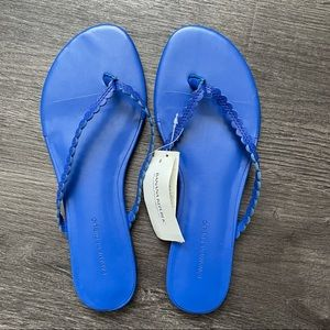 (NWT) Banana Republic Blue Leather Sandals (6 1/2)